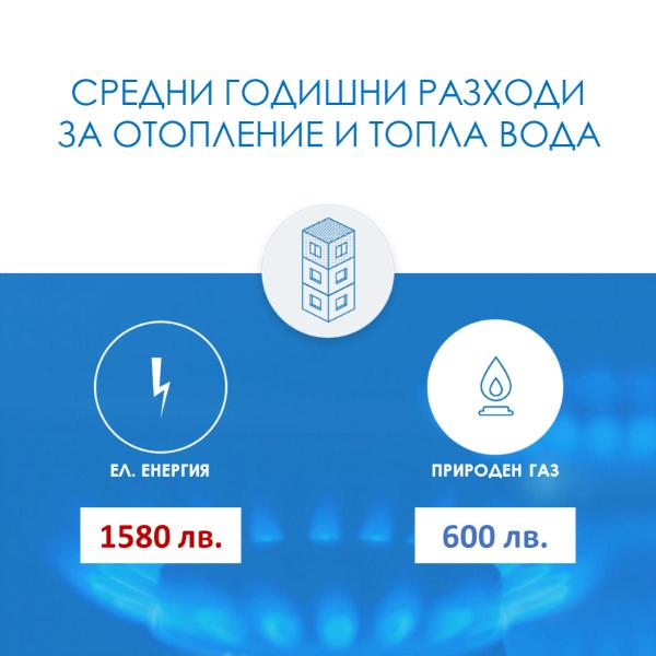 Примерни разходи с електроенергия и природен газ